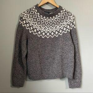 Genuine Sonoma jean company scoop neck wool blend sweater fair isle large